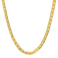 Unisex 3.5mm Yellow Gold-Plated Mariner Link Chain Necklace