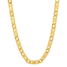 Men's 4mm 14k Yellow-Gold-Layered Textured Mariner Link Chain Necklace