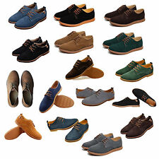 Suede European style leather Shoes Men oxfords Casual HY