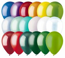 "48 - 12"" Solid Latex Balloons Christmas Inspired Color Palette Wedding Birthday"