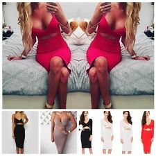 Sexy Women Summer Exposed navel Sling Bodycon Sleeveless Club Cocktail Mini Dres