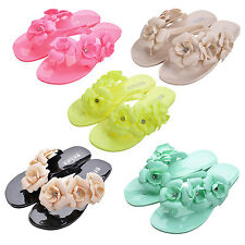 New Flip Flops Women Sandals Female Sandals flower jelly sandals slippers HY