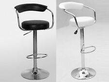 Modern Kitchen Dining Room Bar Stool Faux Leather Chrome Base
