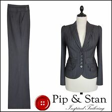 NEW NEXT UK8 US4 BLUE PEPLUM TROUSER SUIT WOMENS LADIES SIZE PIP AND STAN