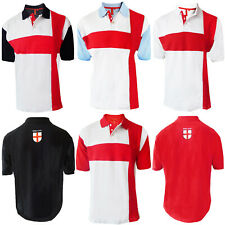 Adults Polo Shirt England Flag Vintage Olympics St Georges Football Cross Top