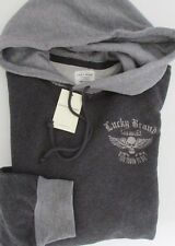 NWT Lucky Brand Skull Hoodie Too Tough To Die Gray Grey Sizes M L XXL
