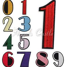 Number 0-9 DIY Embroidered Applique Iron On Sewing Clothes Patch Accessory Cute
