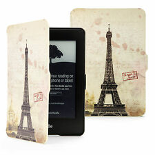 RETRO VINTAGE THIN PU LEATHER CASE COVER FOR NEW KINDLE WITH TOUCH or PAPERWHITE