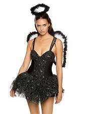 Ann Summers Womens Naughty Angel Costume Black Sexy Erotic Outfit Fancy Dress