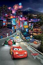 Cars 2 Movie Silk Fabric Poster Lightning McQueen