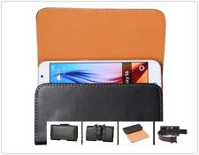 Premium PU Leather Clip Belt Pouch Wallet Mobile Phones Bag Holster Case Cover