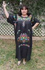3XL Assorted Plus Size Peasant Hippie Boho Tunic Hand Embroidered Mexican Dress