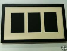 NEW MULTI APERTURE PHOTO FRAME FITS 3 8X6 PHOTOS Multi-Picture Frames