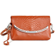 Genuine Leather Croco Women Satchel Messenger Shoulder Cross Body Bag Tote Purse