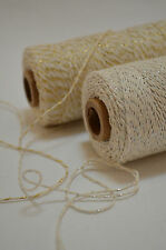 Glitter Bakers Twine 10m Crafts Wedding Choice Colours Shimmer Divine Metallic