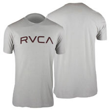RVCA Big RVCA T-Shirt (Cool Gray/Maroon) - mma surf skate
