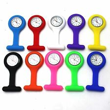 Hot Selling Silicone Nurses Brooch Tunic Fob Watch New With Free Battery