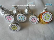 108 PERSONALIZED OWL BABY SHOWER BIRTHDAY PARTY HERSHEY'S KISS CANDY LABELS