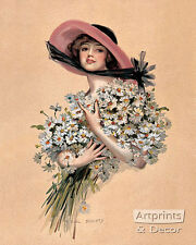 Wearing Daisies by F. Earl Christy (Art Print of Vintage Art)