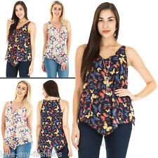 Womens Multicoloured Butterfly Tunic Top With Butterfly Chain Necklace Plus Size