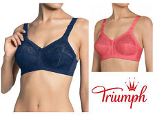 Triumph Doreen Classic Non Wired Bra 10004822 Deep Water Blue or Lobster Pink