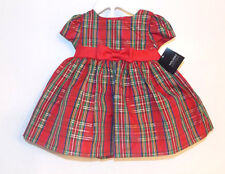 Holiday Editions Infant Girls Multicolor Plaid Dress Bloomers Size 3-6M NWT
