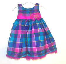 Holiday Editions Toddler Girls Multicolor Plaid Dress Size 24 Months NWT