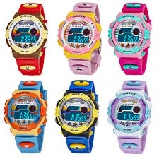 Army Military OHSEN Boys Girl's Lady LED Digital Date Alarm Rubber Sports Watch