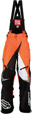 Arctiva Mens Black/Orange/White Comp RR Shell Uninsulated Snowmobile Bibs/Pants