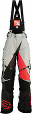 Arctiva Mens Grey/Black/Red Comp Insulated Snowmobile Bibs/Pants