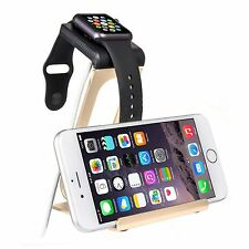 Aluminum Dual Stand Charge Station Dock For Apple Watch And iPhone