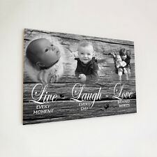 Wooden Plaque A4 Printed Custom Personalised Live Laugh Love For Mothers Day