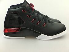 Mens Air Jordan Retro 17 + Black Gym Red 832816-001 Chicago Bulls Nike Bred QS