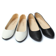 Women Lady Casual Ballet Ballerina Shoes Comfort Slip On  Leather Flat Loafers