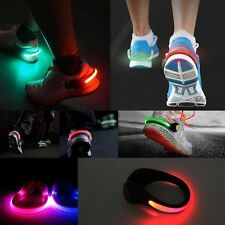 Shoe Clip Night Safety LED Bright Flash Light For Running Cycling Bike New
