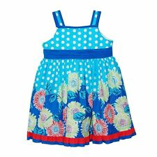 Baby Beri Infant Girl's 2-Piece Floral Dot Print Dress and Matching Panty Set
