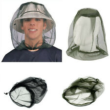 Ultimate Survival Bugs Mosquito Insect Mesh Head Net Face Protector Camping DE