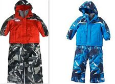ZeroXposur Boys Mock-Layer Jacket & Bib Snow Pants Snowsuit Set, Blue or Red