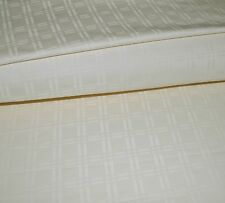 1000TC Egyptian Cotton 1pc  FLAT SHEET Ivory DobbyJACQUARD