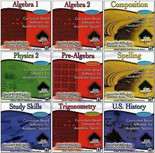 High School Achiever Grades 9-12 Learning Software Home Study PC Windows New