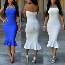 Sexy Women Off Shoulder Party Dress Strapless Bodycon Evening Cocktail Dress