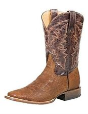 Roper Western Boots Mens Coco Belly Brown Faux Alligator Square Toe Roper