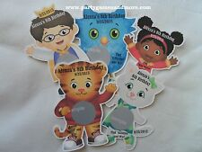 UNIQUE PERSONALIZED DANIEL TIGER'S NEIGHBORHOOD BIRTHDAY PARTY SCRATCH GAME CARD