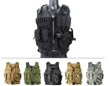 Tactical Airsoft Paintball Hunting Combat Vest & Belt With Holster Pouch