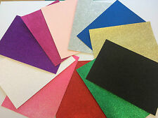 10 Sheets Of 220gsm A4 Soft Touch Fixed Glitter Card, choose your colour!