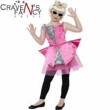 Girls Popstar Costume Fancy Dress Mini Dance Diva Celebrity Gaga Music BOOK WEEK