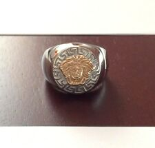 Men's 18k Gold Medusa-Head-Versace-Style-Stainless Steel 316L Ring Sizes: 9 - 13