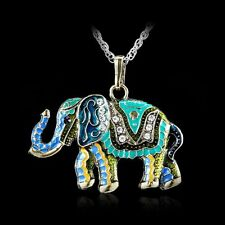Cute Crystal Necklace Elephant Retro Fashion Sweater Chain Pendant Jewellery New