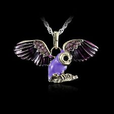 Chic Hot Women's Fashion Jewellery Owl Crystal Necklace Pendant Sweater Chain