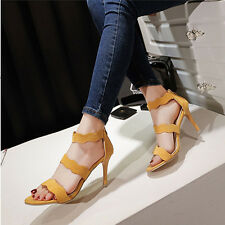 Women Summer High Heels Ankle Strap Peep Toe Casual Stiletto Sandals Party Shoes